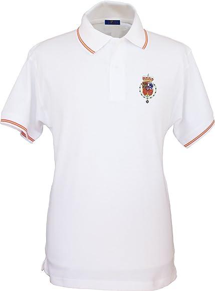 Pi2010 - Polo Bordado Casa Real Felipe Vi para Hombre/Blanco/Talla ...