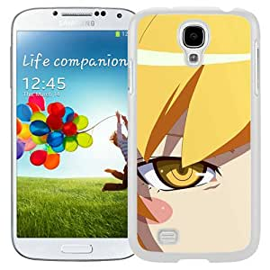 S4 Cover Case,Yellow Eyed Peas Anime Art White Personalized Cool Design Samsung Galaxy S4 Case
