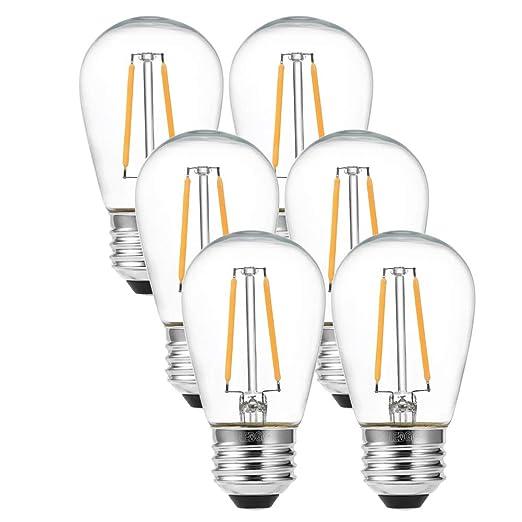LEDGLE Bombilla LED E27 Vintage, Bombilla decorativa LED con ...