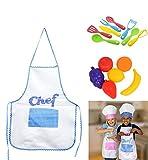 LJIF BOY Kids Cooking Fun Kids Chef Hat Aprons