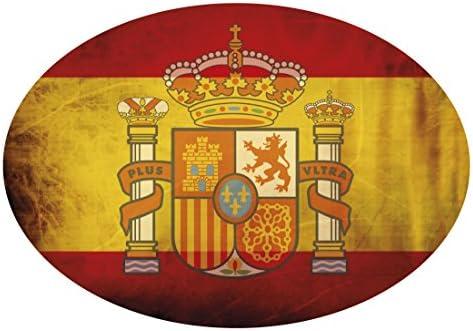 Amazon.es: Artimagen Pegatina Bandera Oval Escudo España con ...