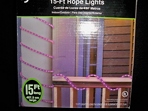 (15' Crystal Iced Halloween Rope Light, Purple)