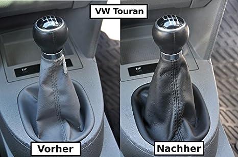 Schaltsack Schaltmanschette Echt Leder Schwarz N241 Auto