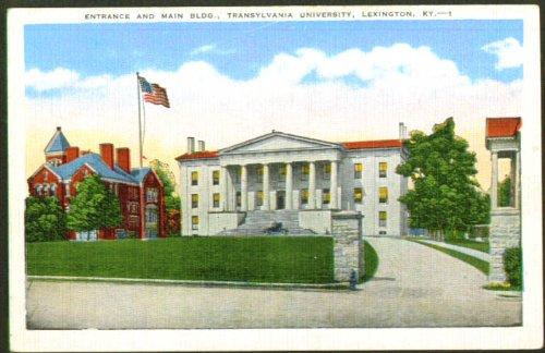 Gate Transylvania University Lexington KY postcard 1930s