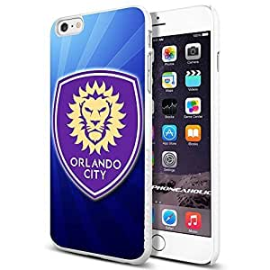 Soccer MLS Orlando City Soccer Club FOOTBALL Logo, Cool iPhone 6 Plus (6+ , 5.5 Inch) Smartphone Case Cover Collector iphone TPU Rubber Case White [By PhoneAholic] by runtopwell
