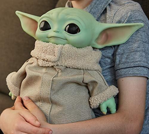 Mattel GWD85 Star Wars Mandalorian The Child Baby Yoda Plüsch Figur 28 cm, Sammler Spielzeug