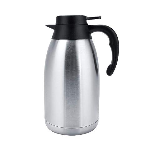 egoera/® aislado al vac/ío de doble pared de acero inoxidable jarra jarra de caf/é agua t/é//aislamiento Pot//cafetera jarra//jarra de agua con tapa asa