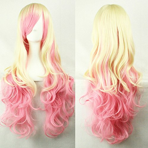 Smooth-28-70cm-Harajuku-Lolita-Beige-Pink-Lolita-Ombre-Synthetic-Wigs-Long-Wavy-Anime-Cosplay-Wig-Party-Wigs-Drag-Queen-WigBeige-and-Pink