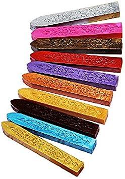LEORX 10 bastoncitos de cera de colores para crear sellos antiguos para cerrar cartas: Amazon.es: Bricolaje y herramientas