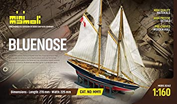 kit modelo de barco BLUENOSE categoria scale 1:160