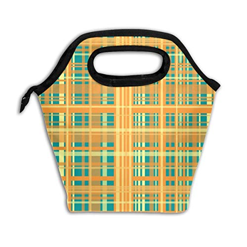 Adele Plaid #2_1529Lunch Bag Insulated Lunch Box Reusable Lunch Tote Cooler Organizer Bag Lunch Bags for Women,Men and Kids Adults