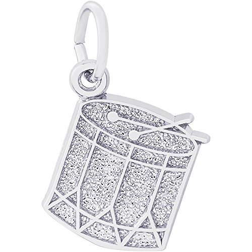 Rembrandt Charms Sterling Silver Drum Charm (14.5 x 12 mm)