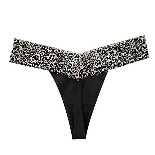 Sexy G Slip Pizzo Stampare Nero Stringa Intima Donna Biancheria Cinturini Biancheria Intima Body Leopardo Donne RIxFEq8w