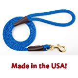 Mendota Products Snap Leash, 1/2-Inch by 4-Feet, Blue