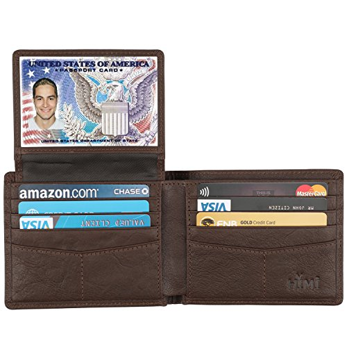 Wallet for Men-Genuine Leather RFID Blocking Bifold Stylish Wallet With 2 ID Window (Vegetable Tanned Coffee)
