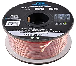 C&E CNE62287 100 Feet 16AWG Enhanced Loud Oxygen-Free Copper Speaker Wire Cable, CNE62287