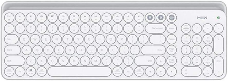 Teclado inalámbrico, Xiaomiyoupin MIIIW 2.4G Ultra Delgado ...