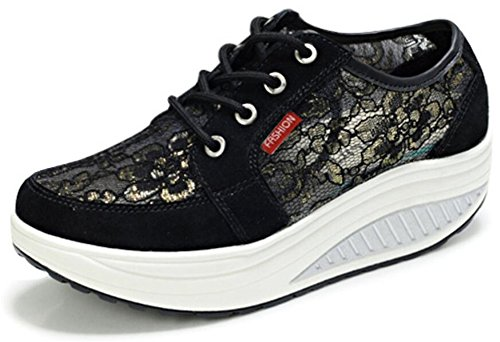 Scarpe Da Donna Per Adulti Maglia Da Passeggio Scarpe Da Ginnastica Moda Sneakers Nere