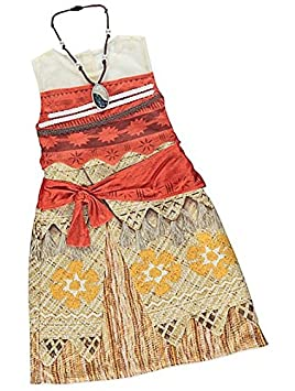 d0705d17866a New Disney George Moana Kids Girls Fancy Dress Outfit Costume (7-8 years)