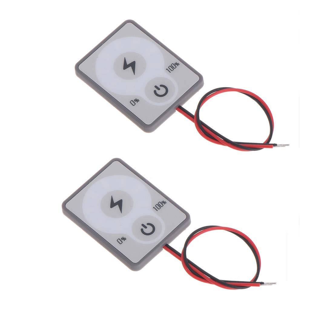 VIccoo 12 V 24 V LCD Auto S/äure Blei Lithium Batterie Kapazit/ätsanzeige Tester Power Meter 12V