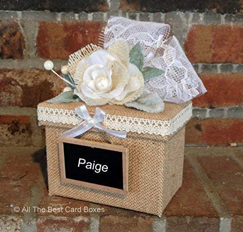 Amazon Com Bridesmaid Gift Box Rustic Wedding Burlap Lace