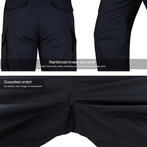 7e864f1a0cc88 HARD LAND Men's Tactical Pants Waterproof Ripstop Outdoor Cargo Work Pants  with Elastic Waist