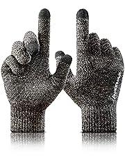 HONYAR Winter Gloves Men Women - Touch Screen Anti-Slip Waterproof Carbon Fiber for Hiking Typing Running Cycling Driving