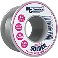 MG Chemicals 4890 Series Sn60/Pb40 Rosin Core Leaded Solder, 0.025 Diameter, 1/2 lbs Spool by MG Chemicals
