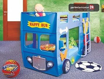 Kinderbett junge bus  PM_HB07 BUS Bett Kinderbett Autobett Jugendbett Spielbett inkl ...