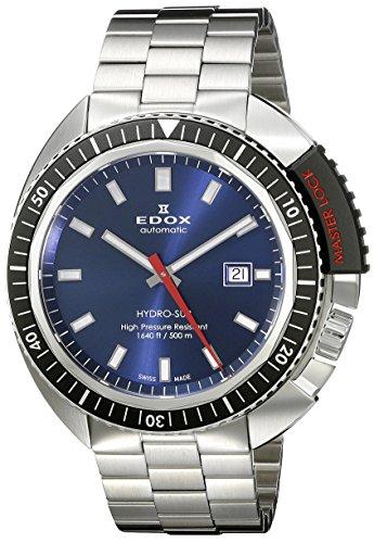 Edox Men's 80301 3NM BUIN Hydro Sub Analog Display Swiss Automatic Silver Watch