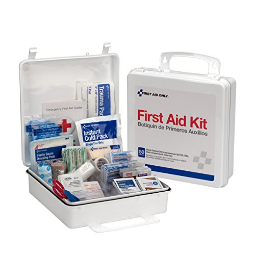Pac-Kit by First Aid Only 6088 165 Piece #50 ANSI First Aid Kit, Weatherproof Plastic (50 Piece Emergency Survival Kit)