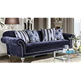 Furniture of America SM2234-SF Safiya Furniture, Navy