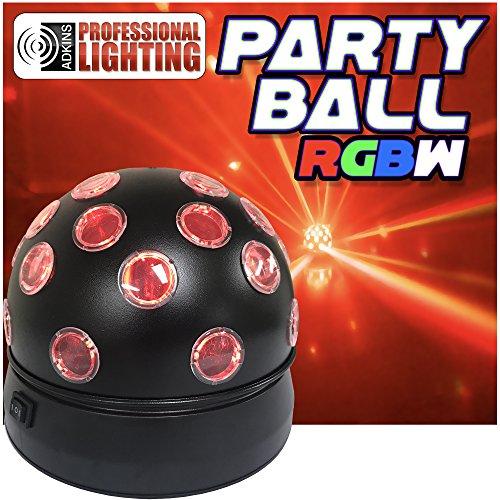 (Party Ball RGBW - DJ Light - LED Rotating Disco Ball Effect)
