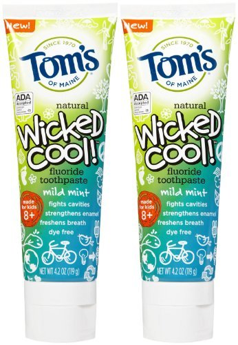 Tom's of Maine Wicked Cool Anticavity Paste - 4.2 oz - 2 pk (Fluoride Toms Kids)