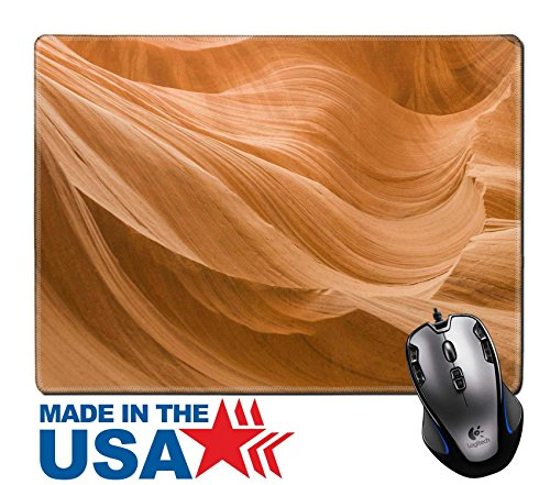 "MSD Natural Rubber Mouse Pad/Mat with Stitched Edges 9.8"" x 7.9"" Antelopes Canyon near page the world famous slot in Antelope Navajo Tribal Park Image ID 27118052"