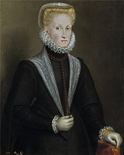 Oil Painting 'Anguissola Sofonisba La Reina Ana De Austria 1573' 30 x 38 inch / 76 x 95 cm , on High Definition HD canvas prints is for Gifts And Basement, Hallway And Home Theater decor, on print