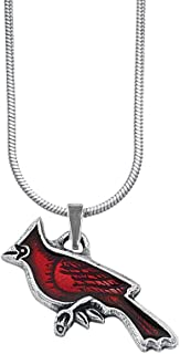 "product image for DANFORTH - Cardinal Necklace - 18"" Sterling Silver Chain - Handcrafted - Pewter Pendant - Made in USA"