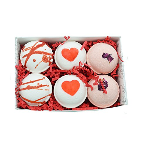 /Love Spell, Strawberries & Champagne and Rose Scented Fizzies Bath Balls | Set of 6, Handmade in USA From Tatum & Shea ()