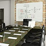 Best-Rite 83941 Enlighten Glass Dry Erase Whiteboard, Glossy White 1/8 inch Tempered Glass, 4 x 6 Feet