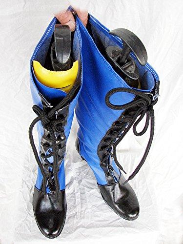 Nero Maggiordomo Kuroshitsuji Ciel Blu Stivali Cosplay Scarpe Stivali Su Misura