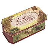 Cottage Garden Friends Belle Papier Petite Musical Jewelry Box with Vintage Romance Finish Plays Friend In Jesus