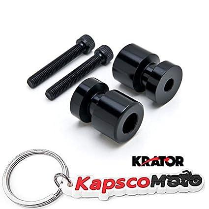 Amazon.com: Krator Black Swingarm Spools Sliders 8mm for ...