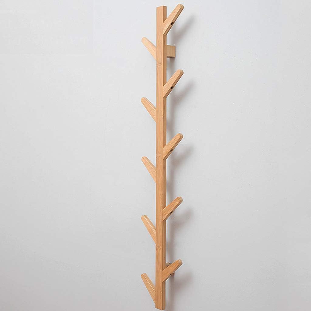 mensole da muro rustico rustico decorativo di design moderno Appendiabiti in legno a parete ingresso bagno soggiorno Camera da letto cucina ganci attaccapanni hardware industriale,Bianca,6hooks