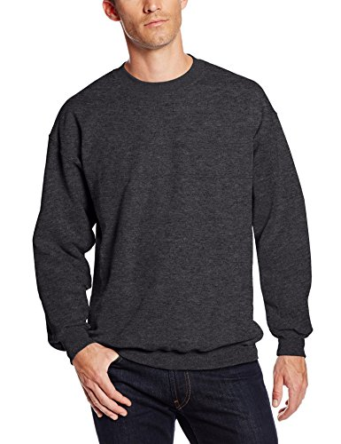 Hanes Men's Ultimate Heavyweight Fleece Sweatshirt, Charcoal Heather, - Sweatshirt Hanes Heavyweight