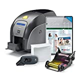 ID Card Printer - Zebra ZXP Series 1 Complete Photo ID Card Printer System with AlphaCard ID Suite Software