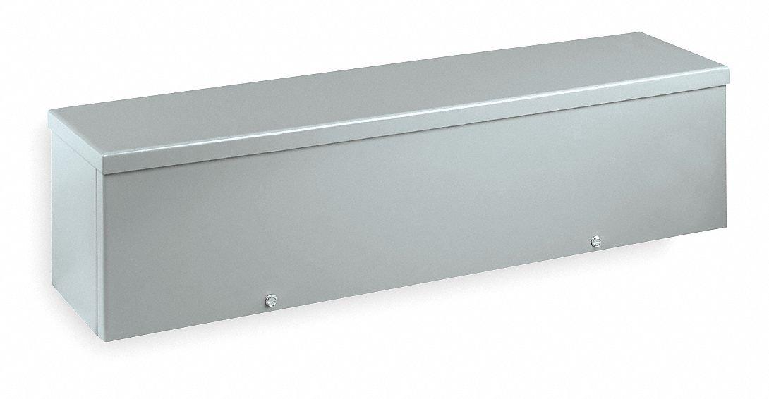 Wiegmann RSCG060624 RSCG-Series NEMA 3R Screw Cover Wiring Trough with Knockouts Carbon Steel, 6'' x 6'' x 24''