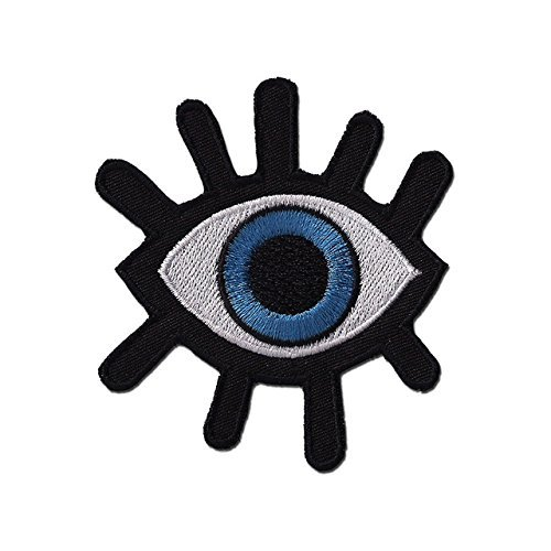 Eye Eyeball Tattoo Wicca Occult Goth Punk Retro EMBROIDERED PATCH Badge Iron-on, Sew On 3.5