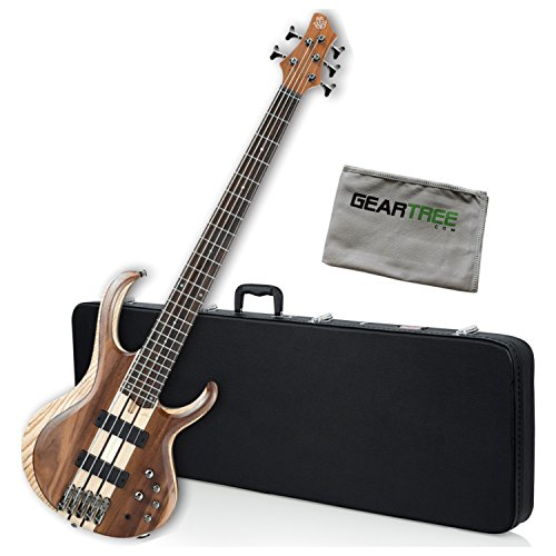 Ibanez BTB745NTL BTB Standard 5-String Bass Guitar Natural Low Gloss w/Hard Cas (Natural Gloss Bass Guitar)
