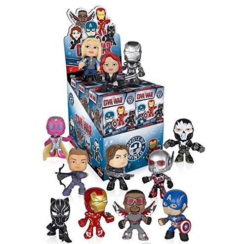 Funko Marvel Captain America 3: Civil War Mystery Minis Vinyl Mini-Figure Display Box - Contains 12 Blind Box Figures ()