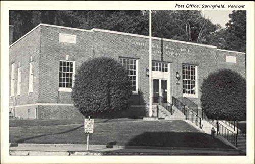 Post Office Springfield, Vermont Original Vintage Postcard